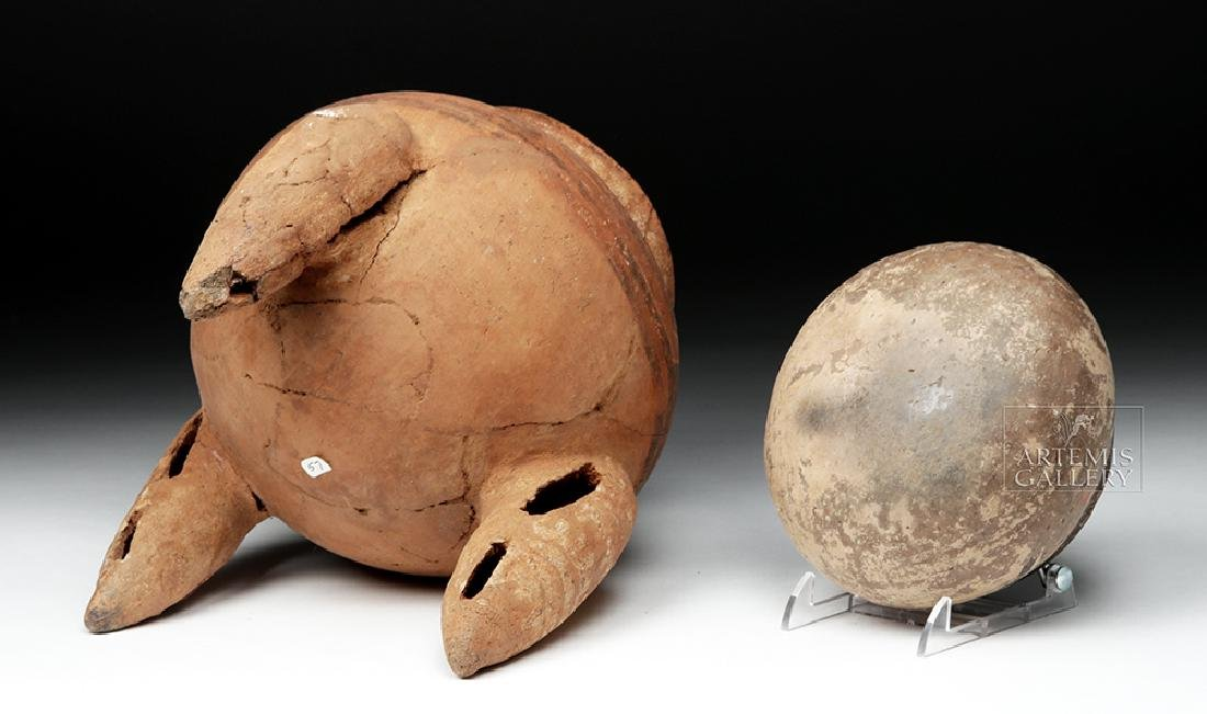 Pair of Costa Rican Terracotta Tripod Vessel & Jar - 6