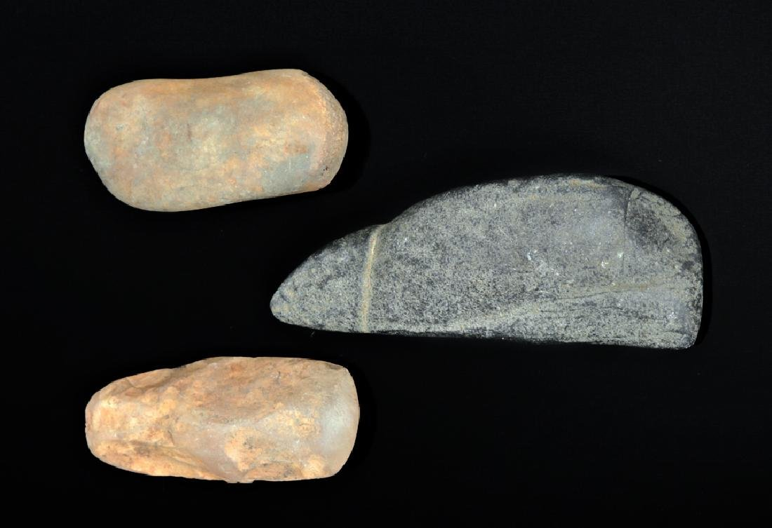 Trio of Native American Stone Hand Tools