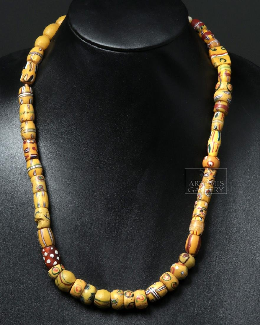 18th C. African Venetian Glass Trade Bead Necklace
