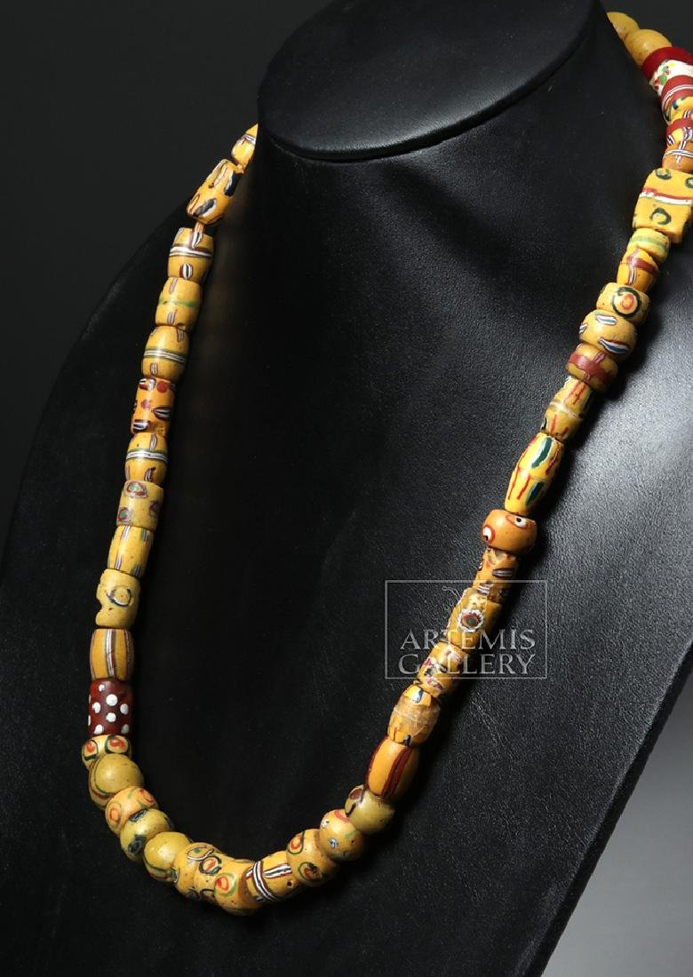 18th C. African Venetian Glass Trade Bead Necklace - 3