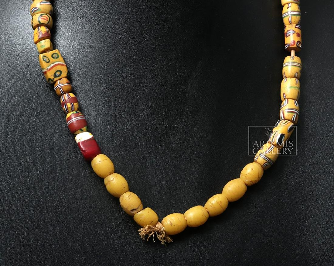 18th C. African Venetian Glass Trade Bead Necklace - 4