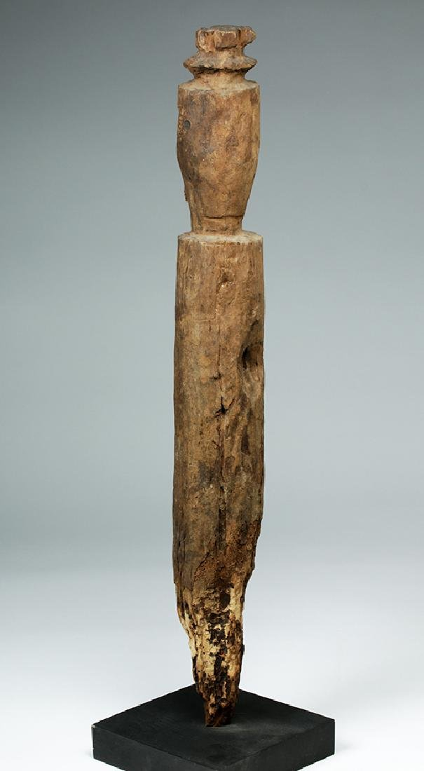 Early 20th C. Nigerian Carved Wood Ancestor Figure - 4