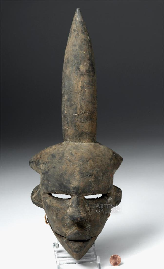 Early 20th C. African Ogoni Wooden Articulated Mask