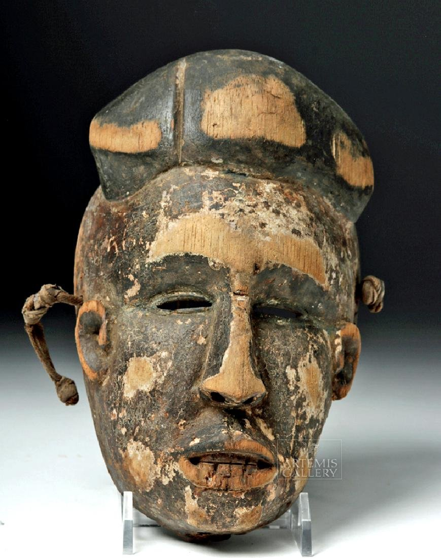 Early 20th C. African Igbo Wooden Face Mask