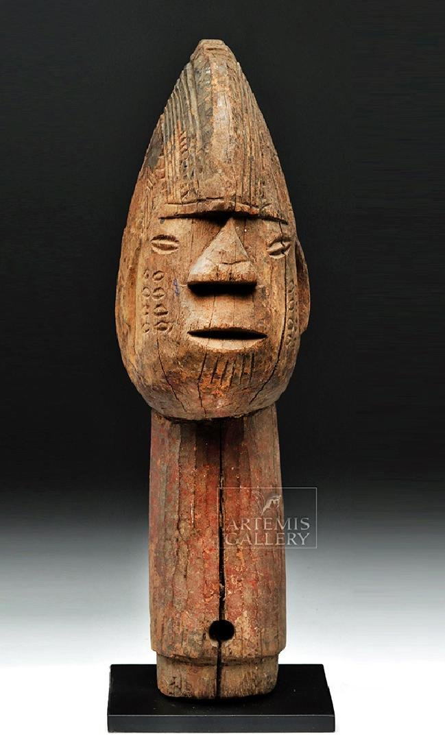 Large Mid 20th C. African Wooden Head Finial - 2