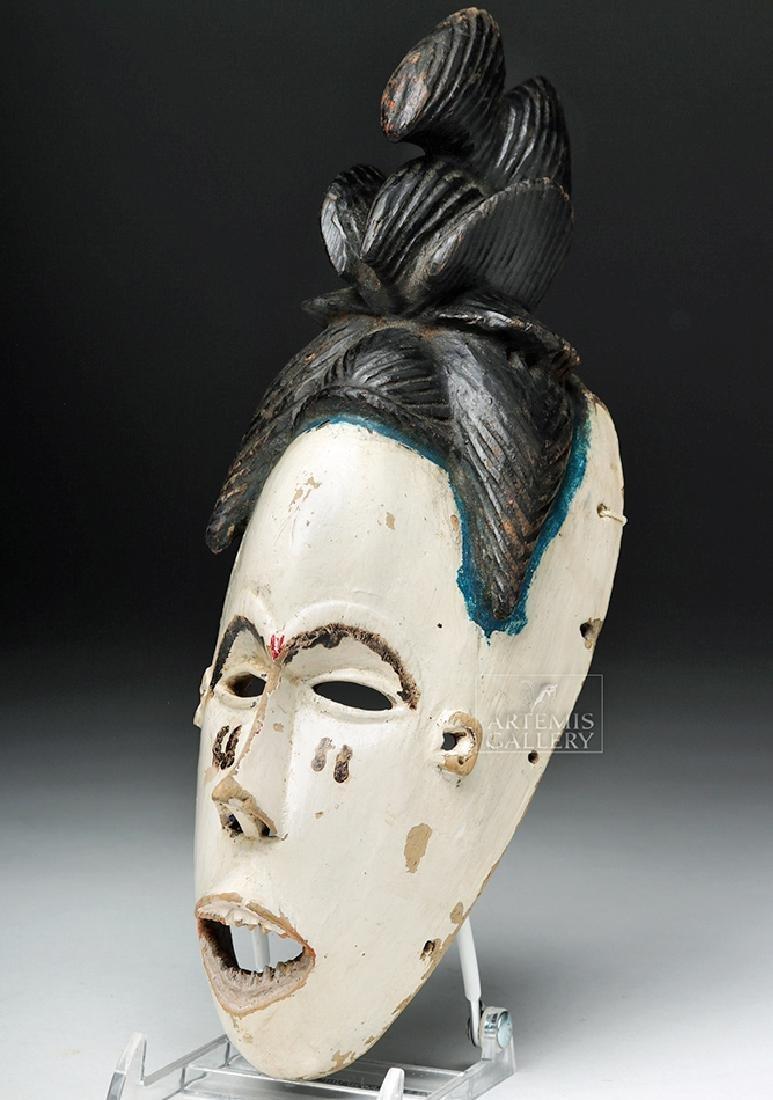 Mid-20th C. African Igbo Wood Okoroshi Oma Mask
