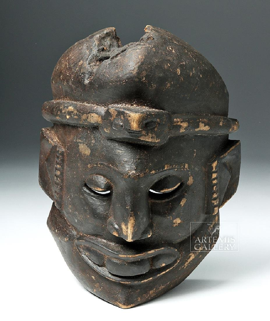 Mid-20th C. African Ibibio Ekpo Wooden Face Mask