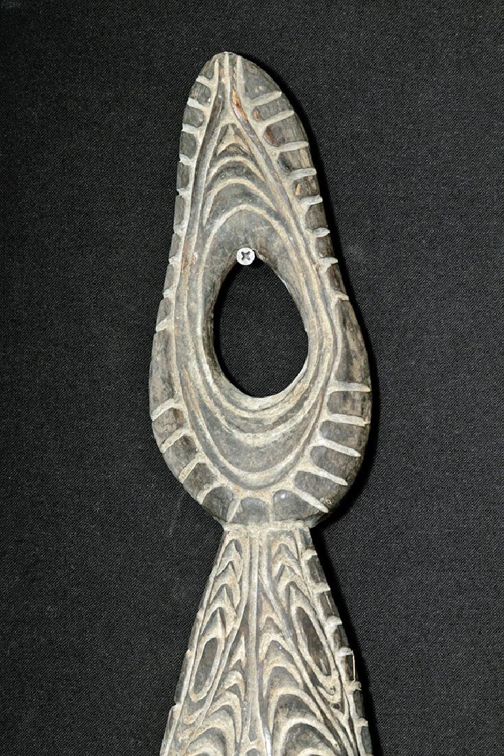 Early 20th C. PNG Sepik River Wood Trophy Hook - 2