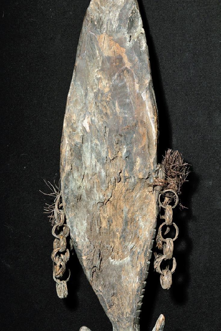 Early 20th C. PNG Sepik River Wood Trophy Hook - 7