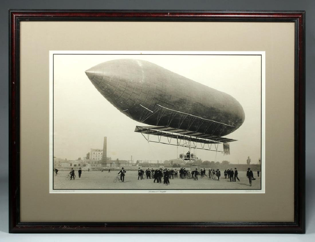 Framed Photograph - Mixed Dirigible Malecot of 1908