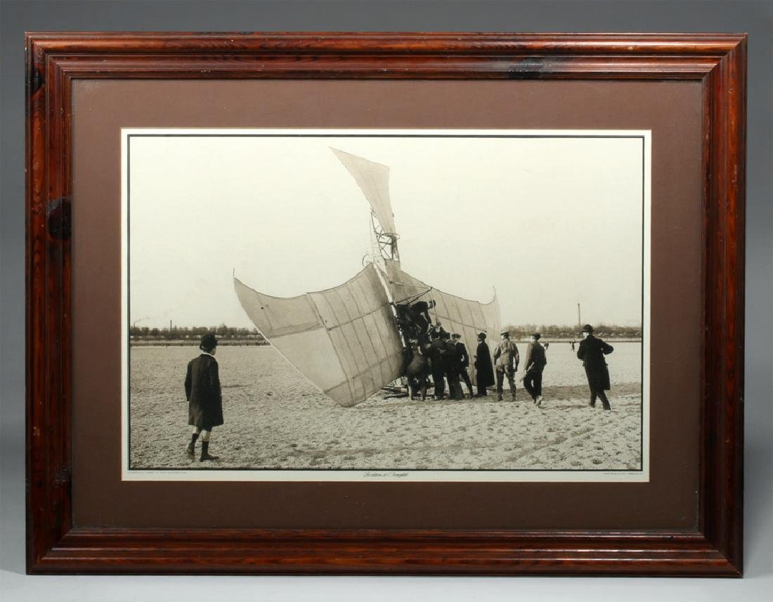 "Framed Photograph ""Accident de la 'Fregate' en 1910"""