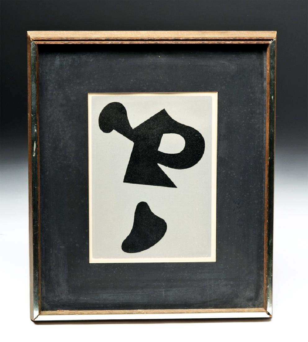 """Jean Arp """"Dreams and Projects"""" Original Woodcut, 1951"""