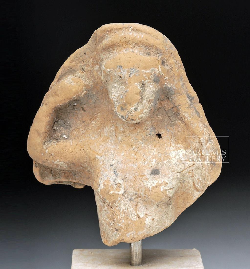 Greek Archaic Terracotta Bust of Woman