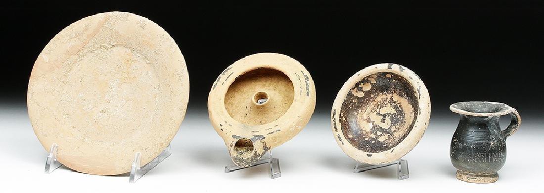 Lot of 4 Greek Apulian Terracotta Vessels