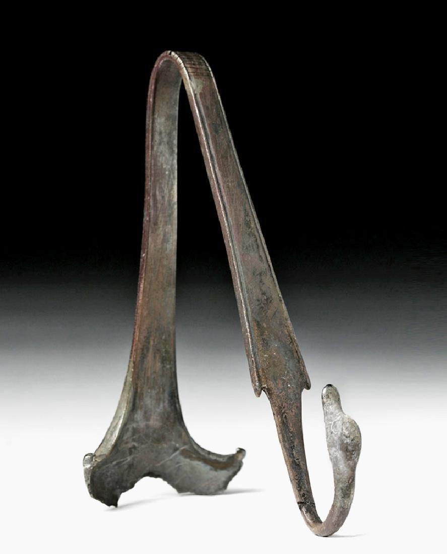 Hellenistic Greek Silver Handle w/ Swan Terminal