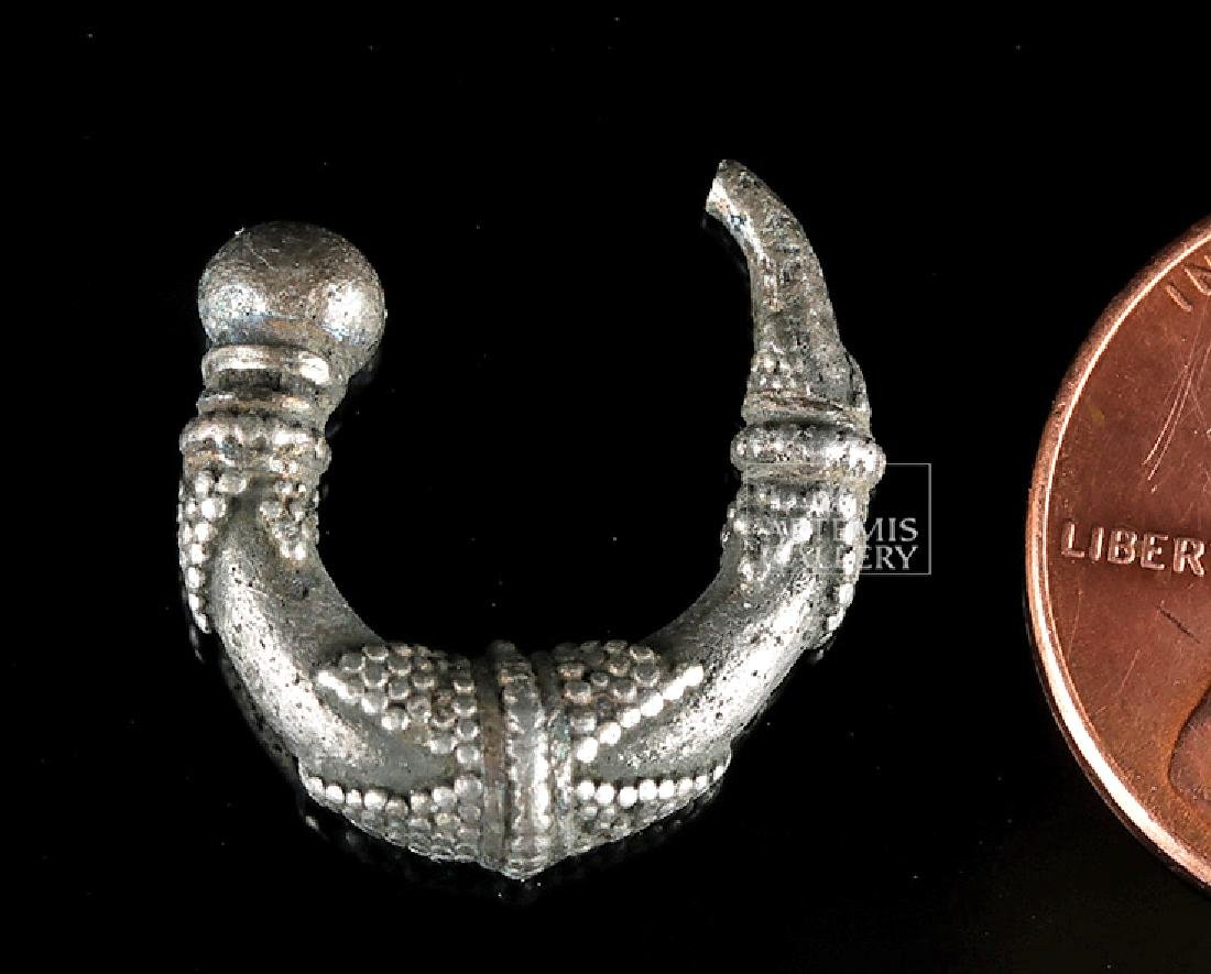 Late Roman Silver Earring - 2.8 grams - 3