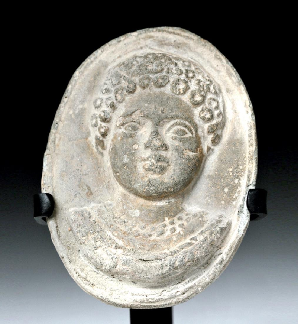 Roman Terracotta Plaque - Bust of a Youth