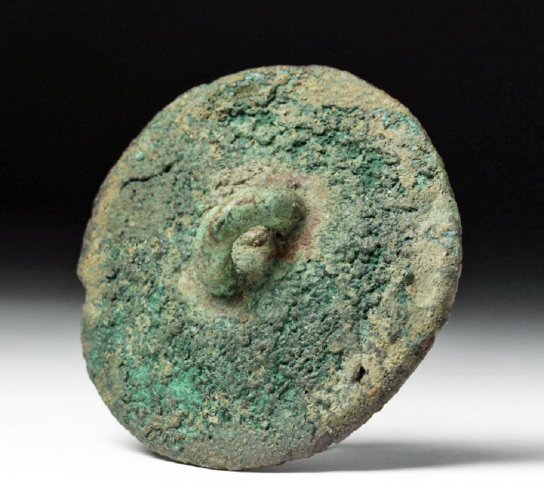 Early Anatolian Bronze Stamp Seal w/ Three Figures - 3