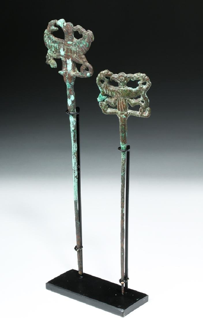 Pair of Luristan Bronze Clothes Pins, Master of Animals - 3