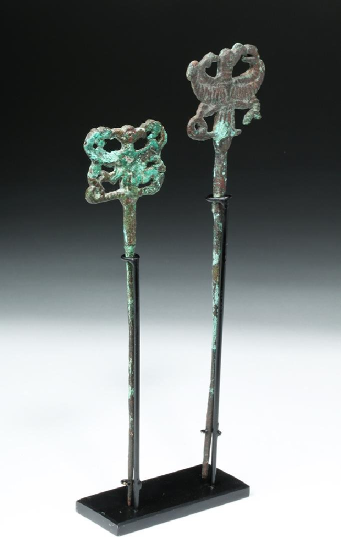 Pair of Luristan Bronze Clothes Pins, Master of Animals - 4