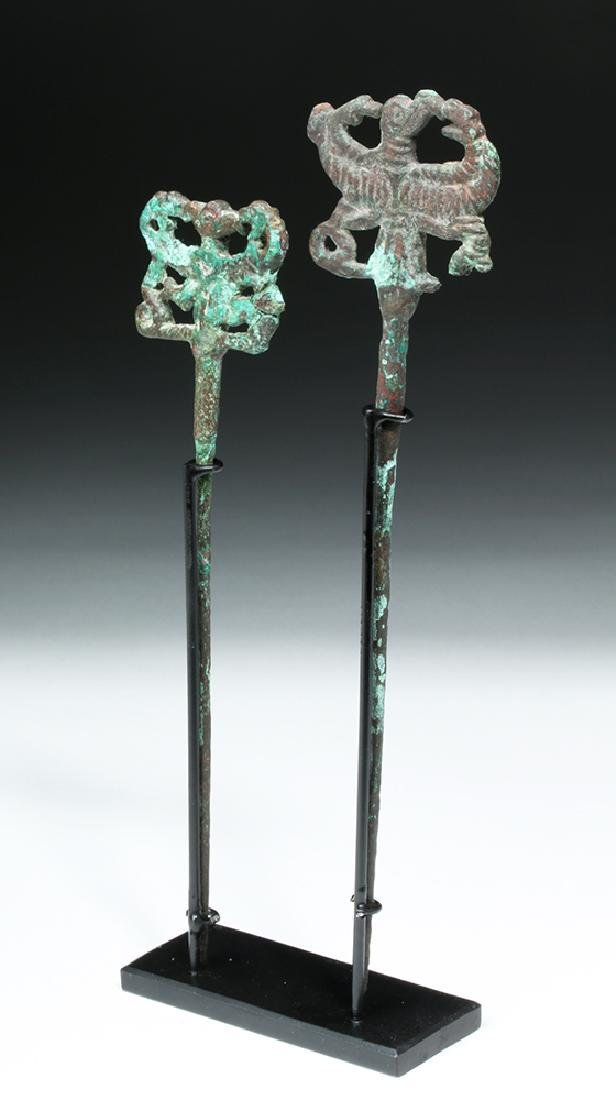 Pair of Luristan Bronze Clothes Pins, Master of Animals - 5