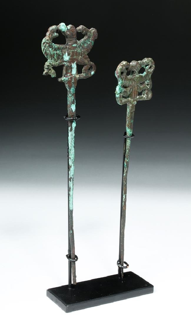 Pair of Luristan Bronze Clothes Pins, Master of Animals - 6