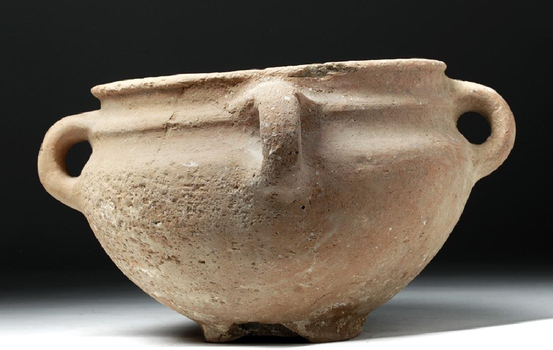 Holy Land / Iron Age Terracotta Jar w/ Lugged Handles - 3