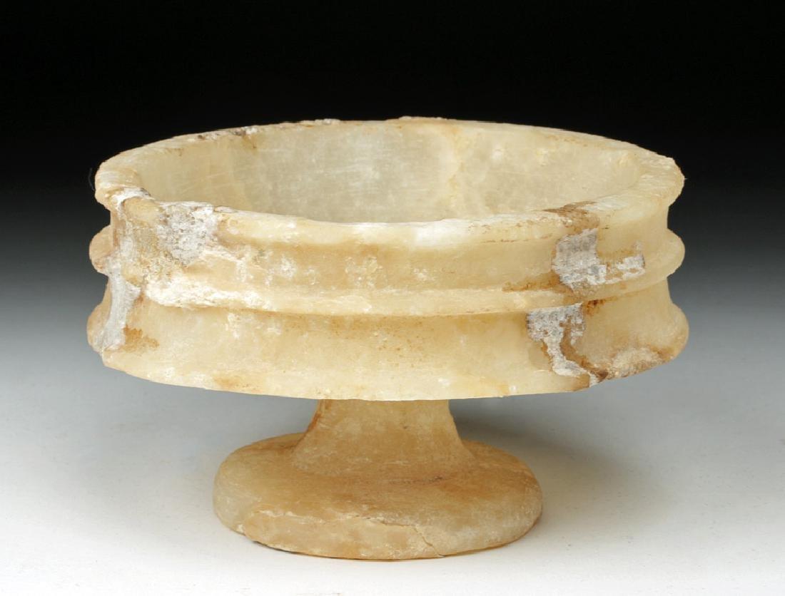 Bactrian Alabaster Pedestal Goblet