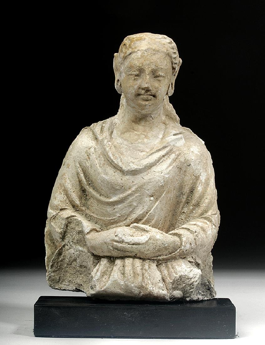 Gandharan Stucco Upper Body of a Woman
