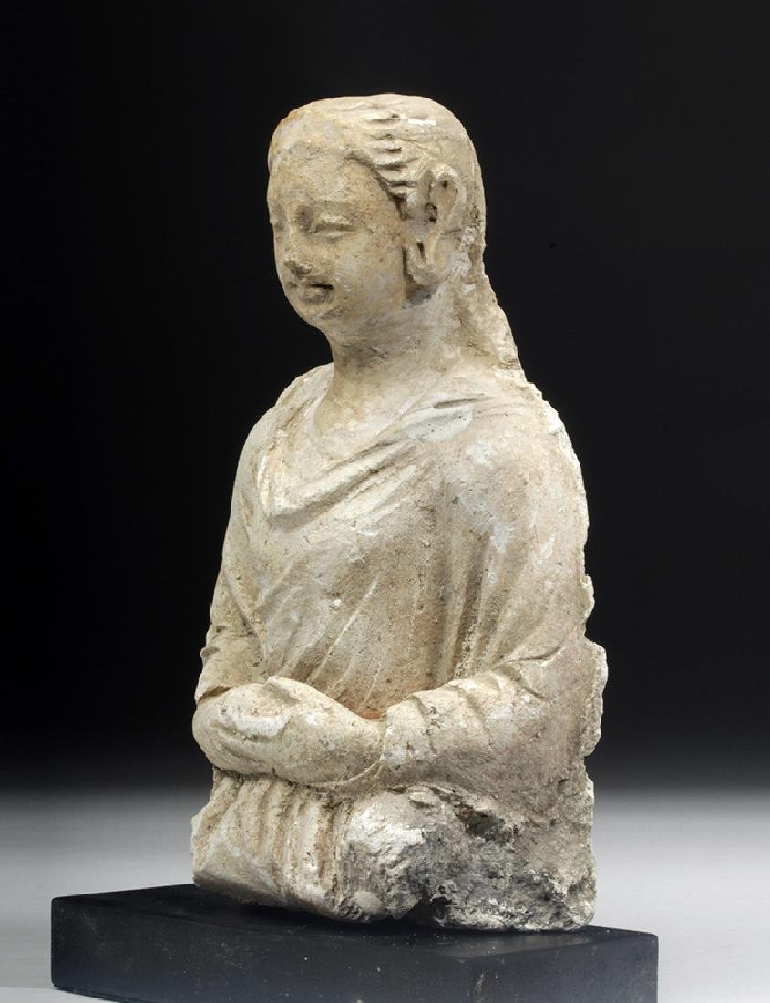 Gandharan Stucco Upper Body of a Woman - 2