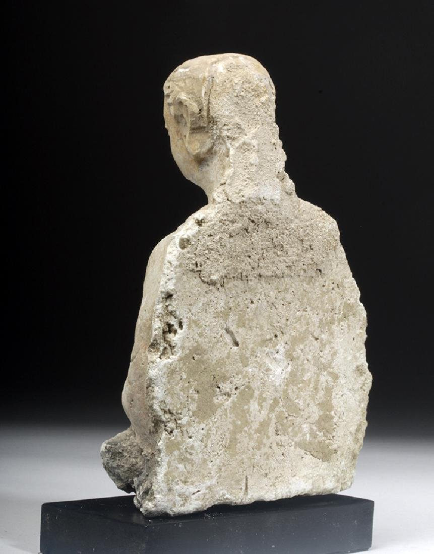 Gandharan Stucco Upper Body of a Woman - 3