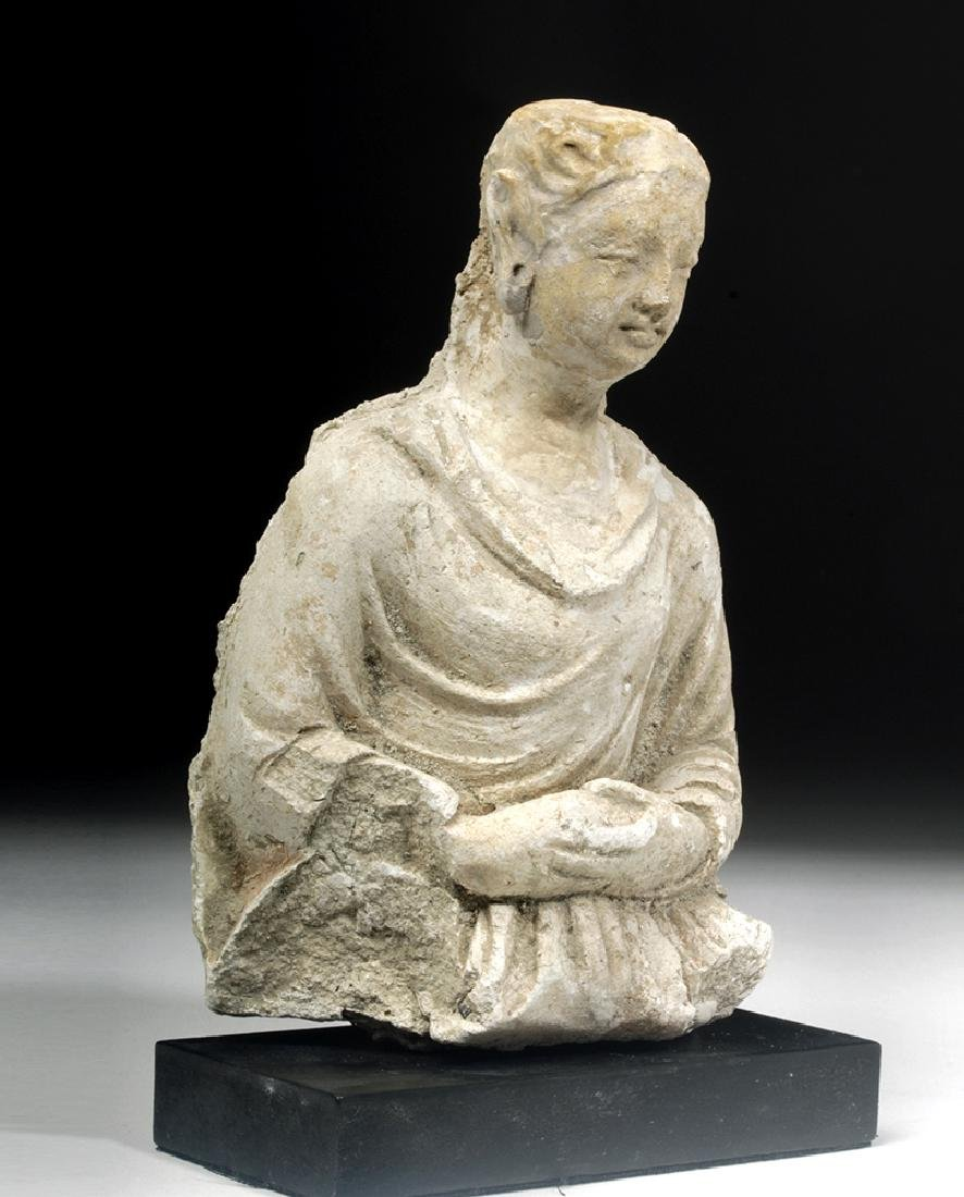 Gandharan Stucco Upper Body of a Woman - 5