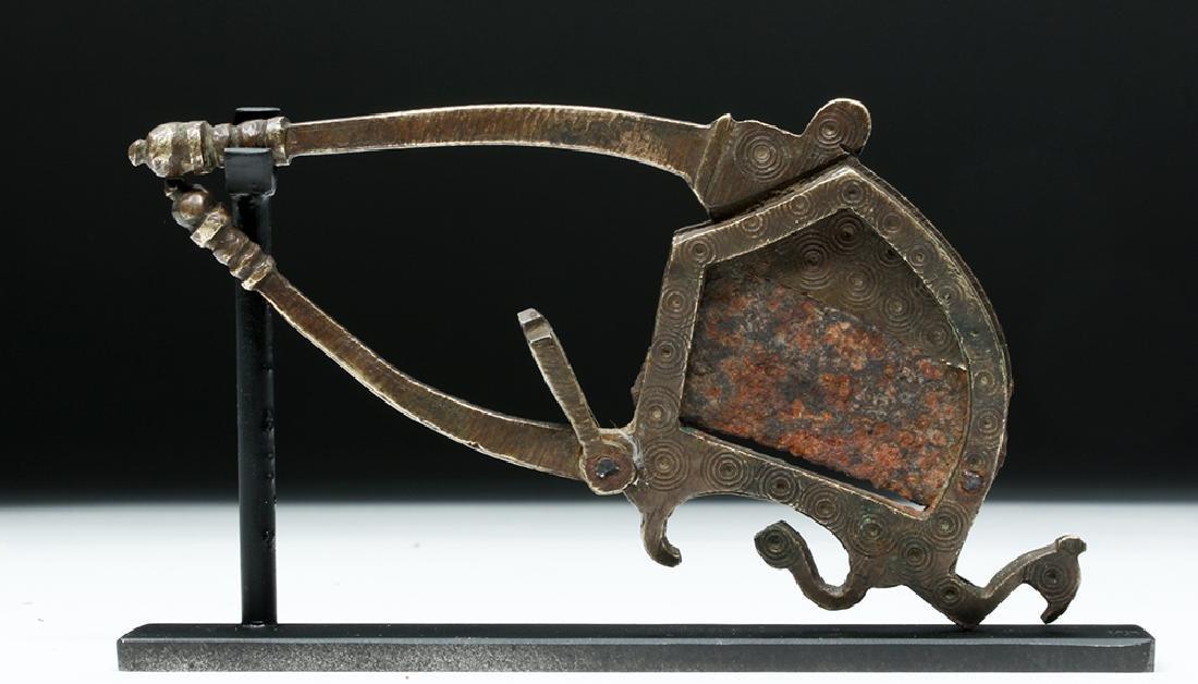 17th C. India Moghul Bronze Betel Nut Cutter - Bird - 2