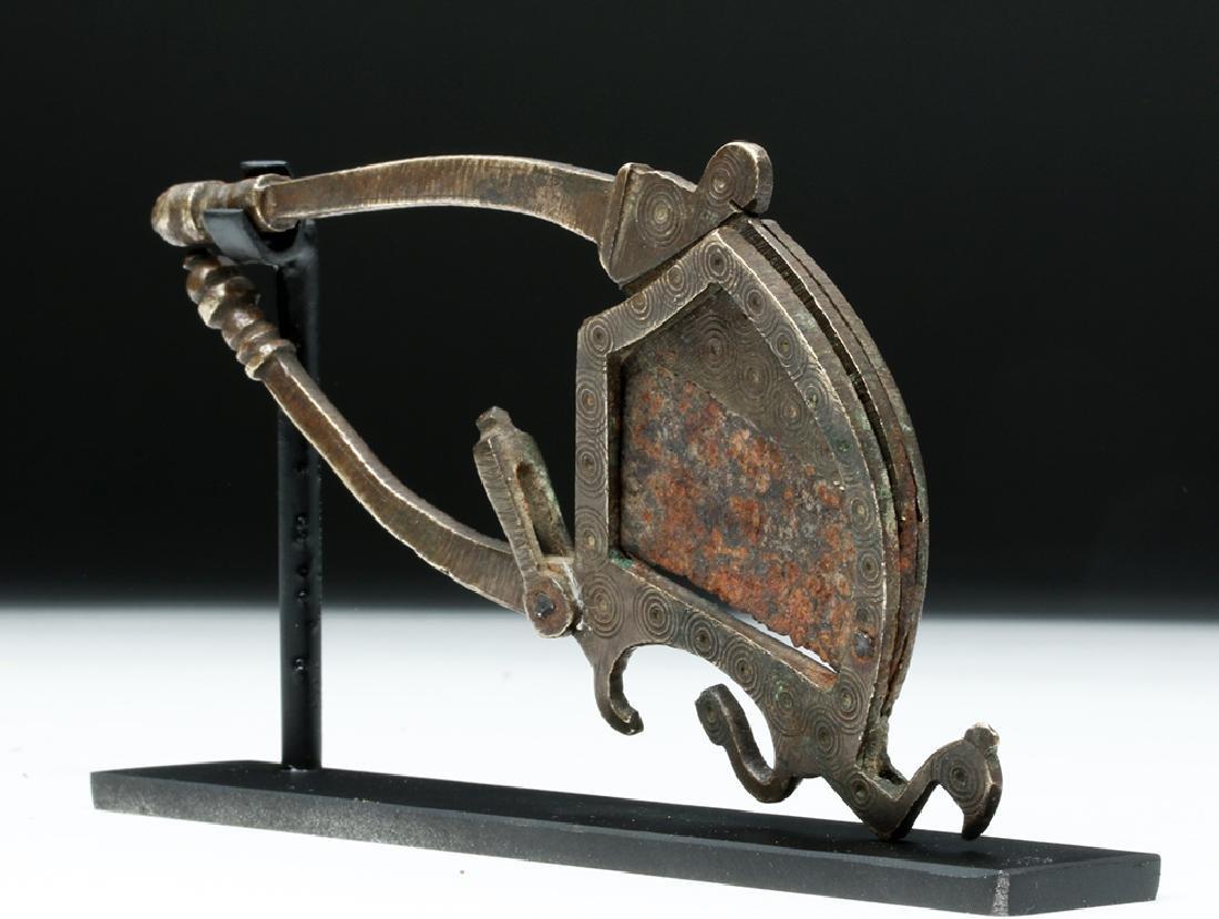 17th C. India Moghul Bronze Betel Nut Cutter - Bird - 3