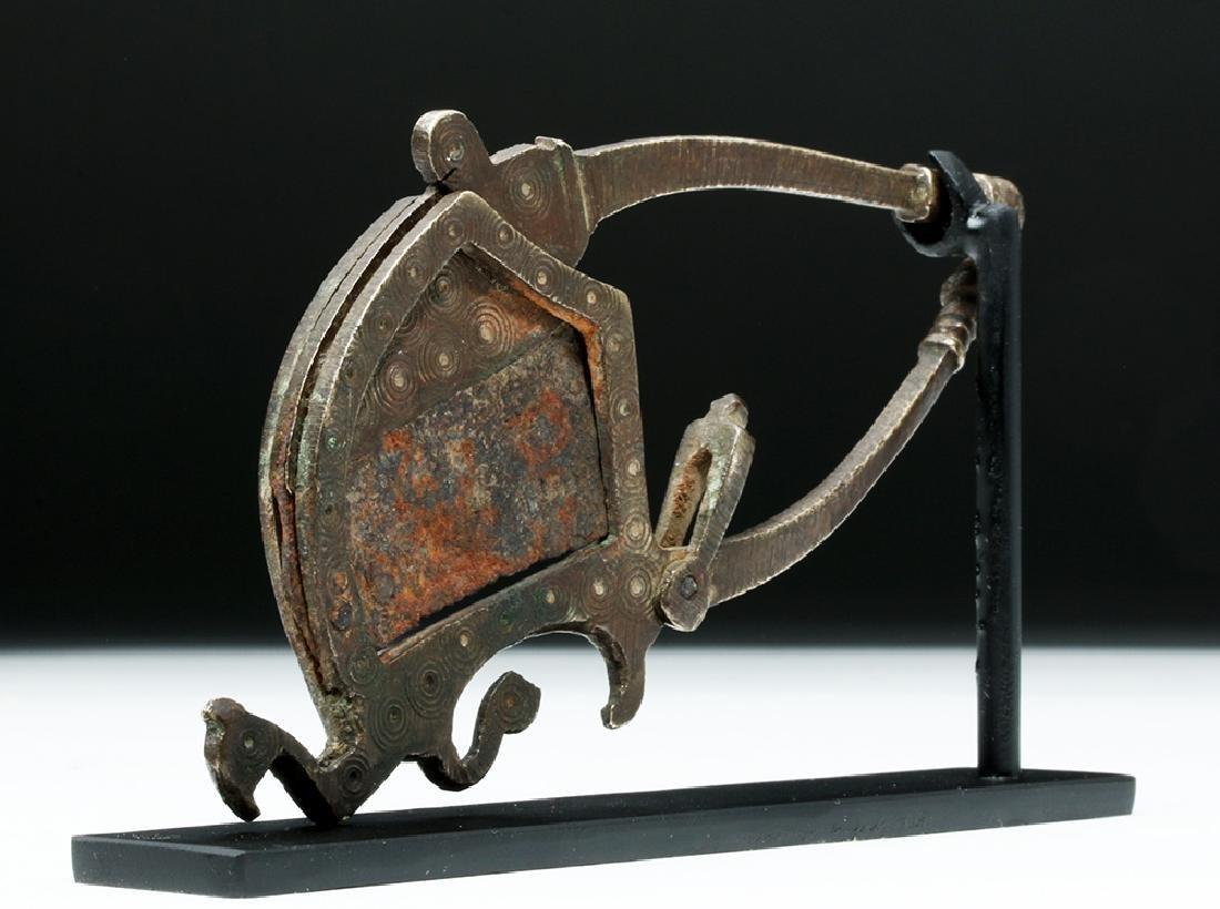 17th C. India Moghul Bronze Betel Nut Cutter - Bird - 4
