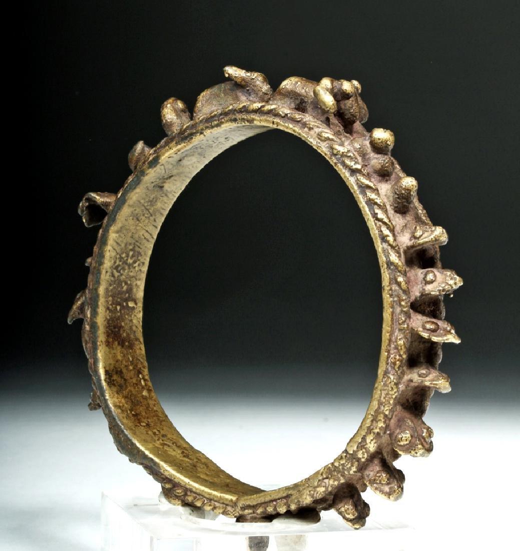18th C. Tibetan Brass Bracelet - Zodiac Animals