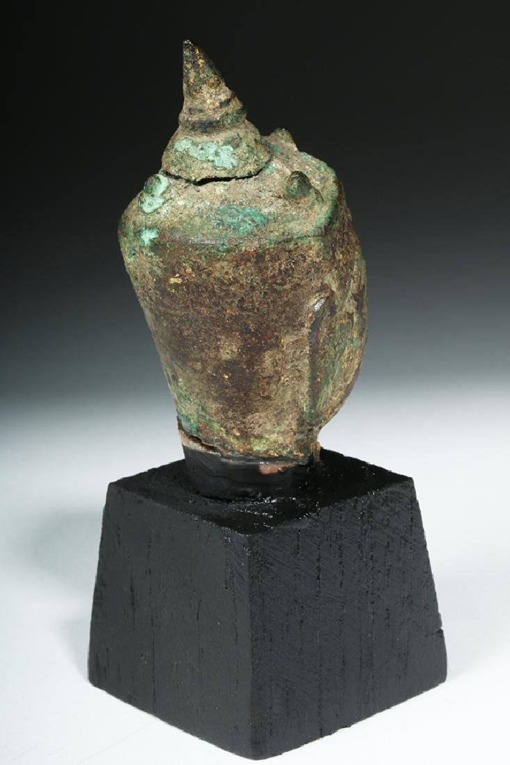 16th C. Thai Bronze Buddha Head - 4