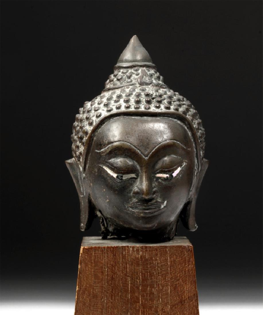 17th C. Thai Ayutthaya Bronze Buddha Head