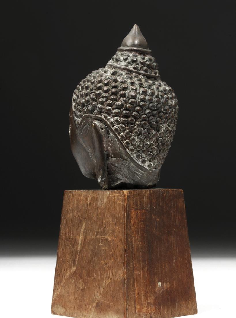 17th C. Thai Ayutthaya Bronze Buddha Head - 2