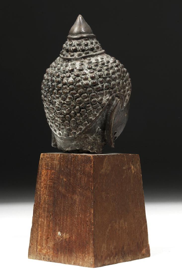 17th C. Thai Ayutthaya Bronze Buddha Head - 3