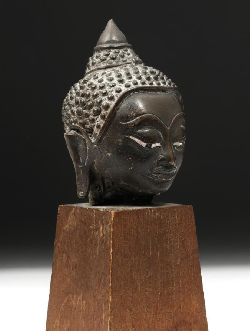 17th C. Thai Ayutthaya Bronze Buddha Head - 4