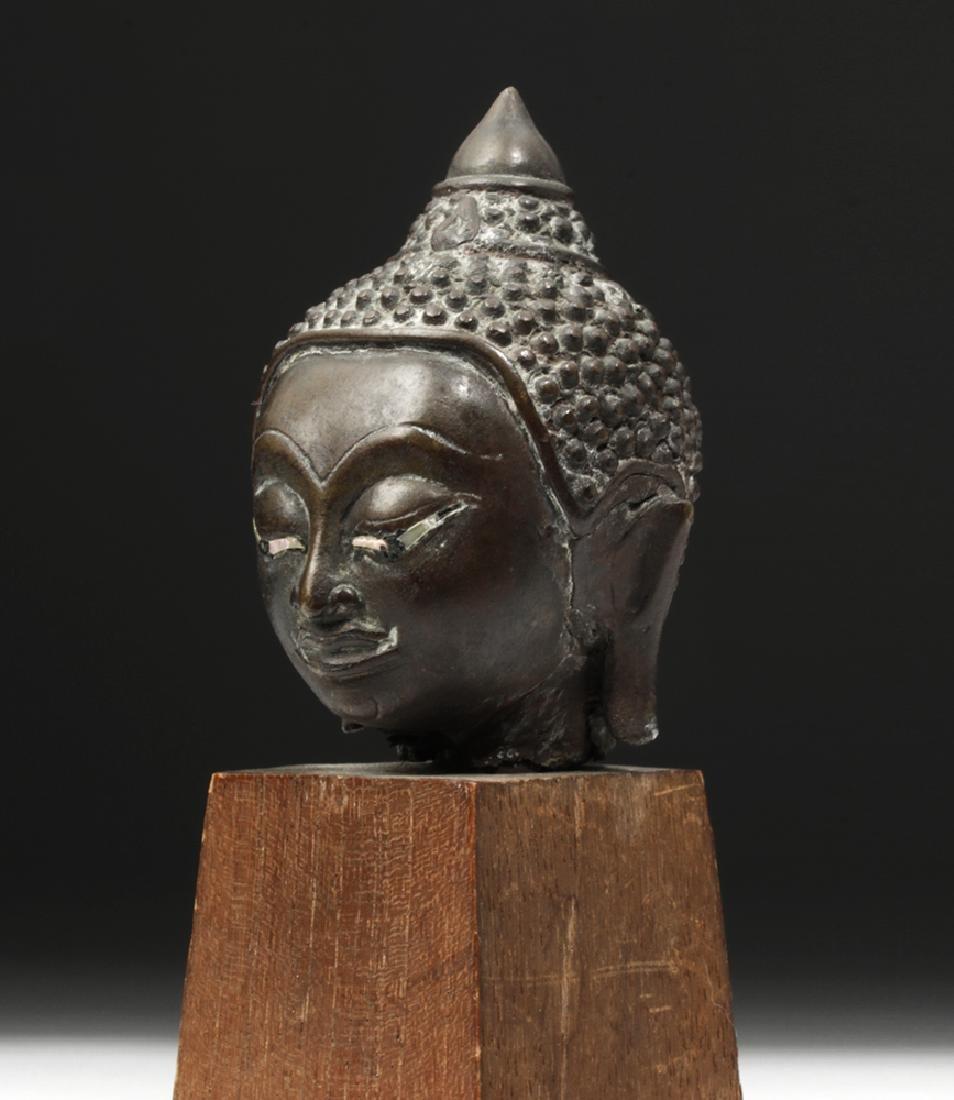 17th C. Thai Ayutthaya Bronze Buddha Head - 5