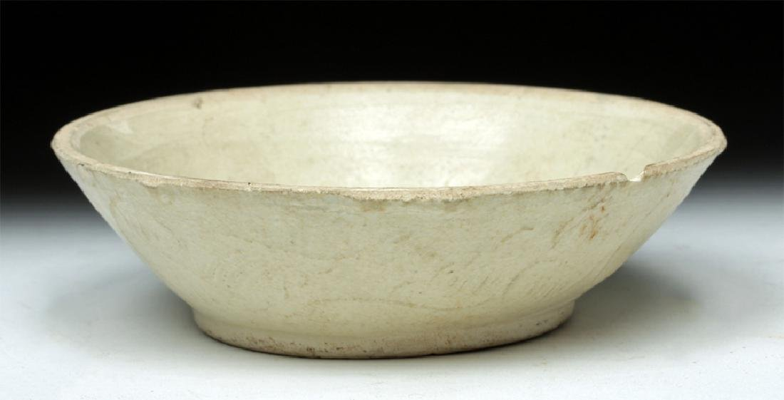 Chinese Song Dynasty Impressed White Dish