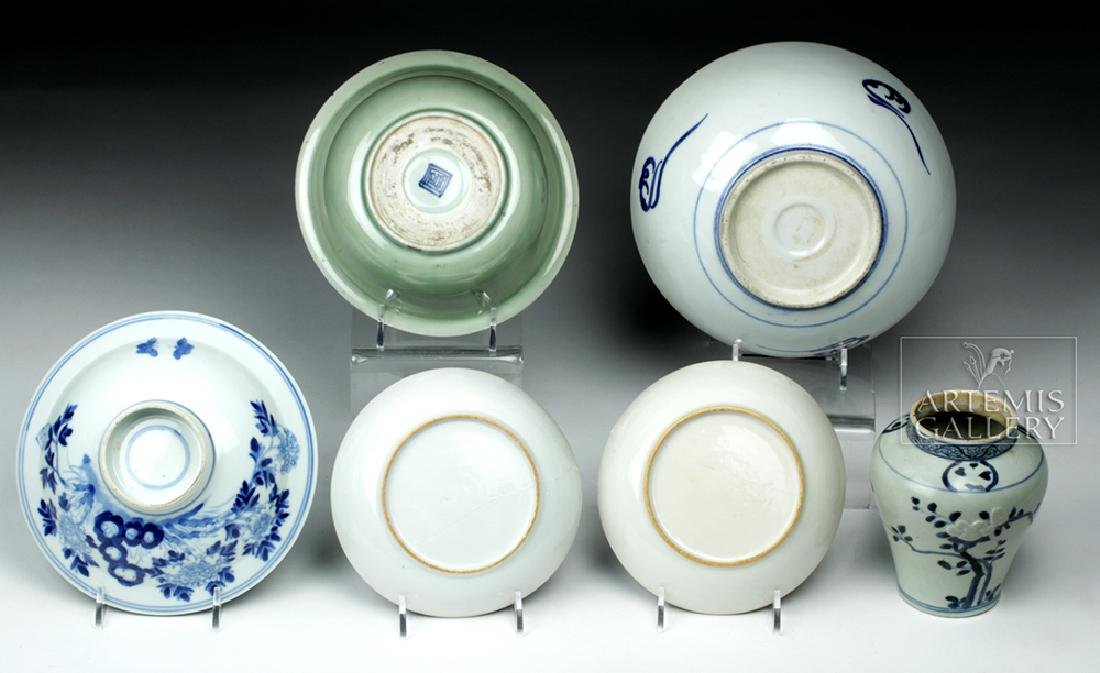 19th C. Chinese Blue Ware Porcelain Vessels (6) - 2