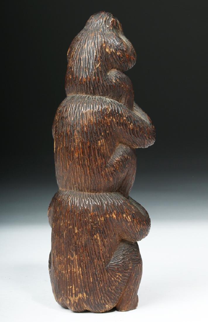 Meiji Period Wooden Japanese Monkey Totem - 4