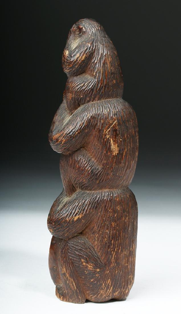 Meiji Period Wooden Japanese Monkey Totem - 5