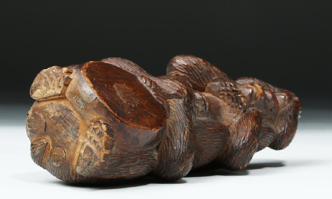 Meiji Period Wooden Japanese Monkey Totem - 6