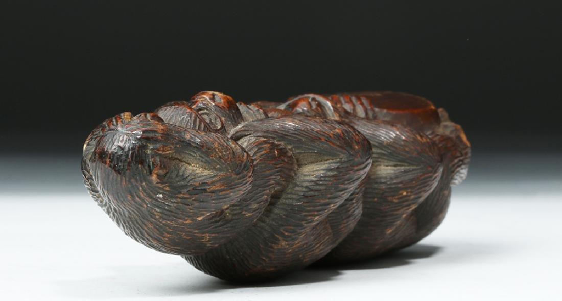 Meiji Period Wooden Japanese Monkey Totem - 7