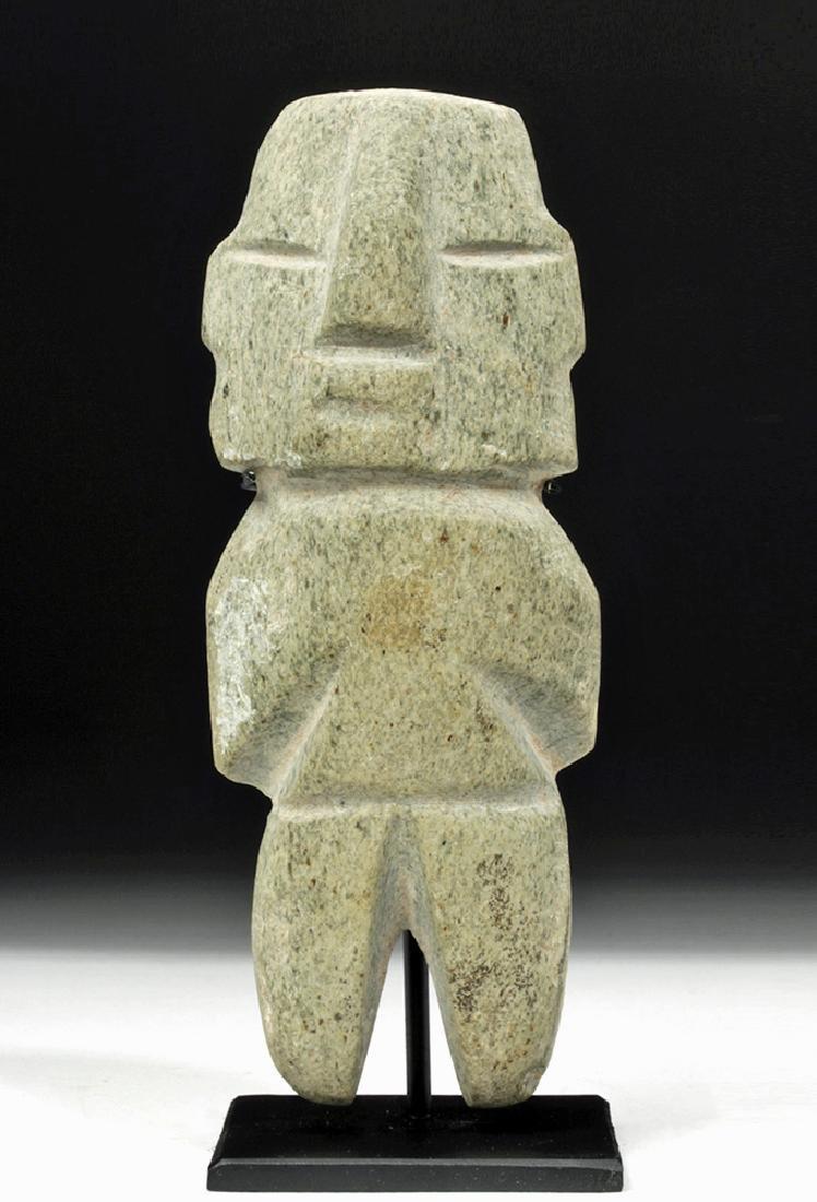 Guerrero / Chontal Green Stone Axe God