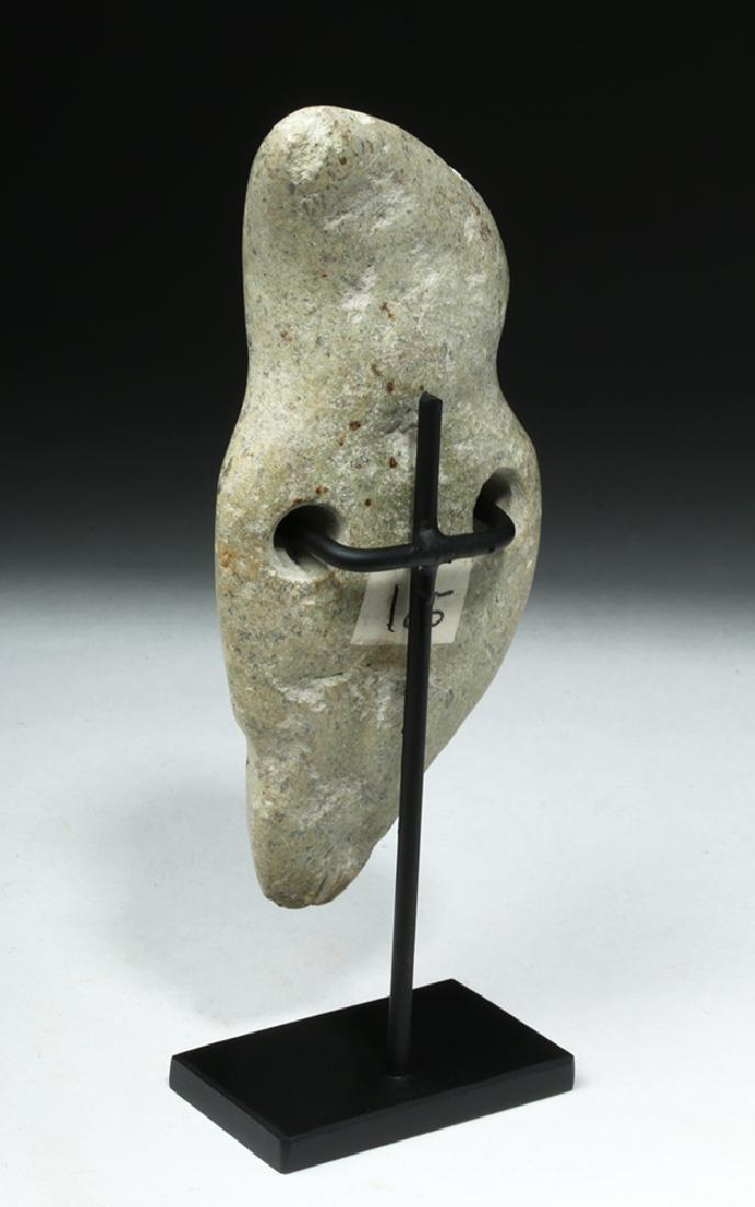 Unusual Guerrero Mezcala White Stone Figure - 3